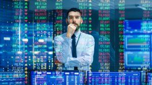 guy analyzing stock market