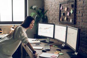 stock broker concept