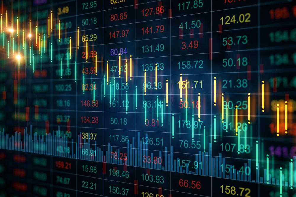 stock market trends concept